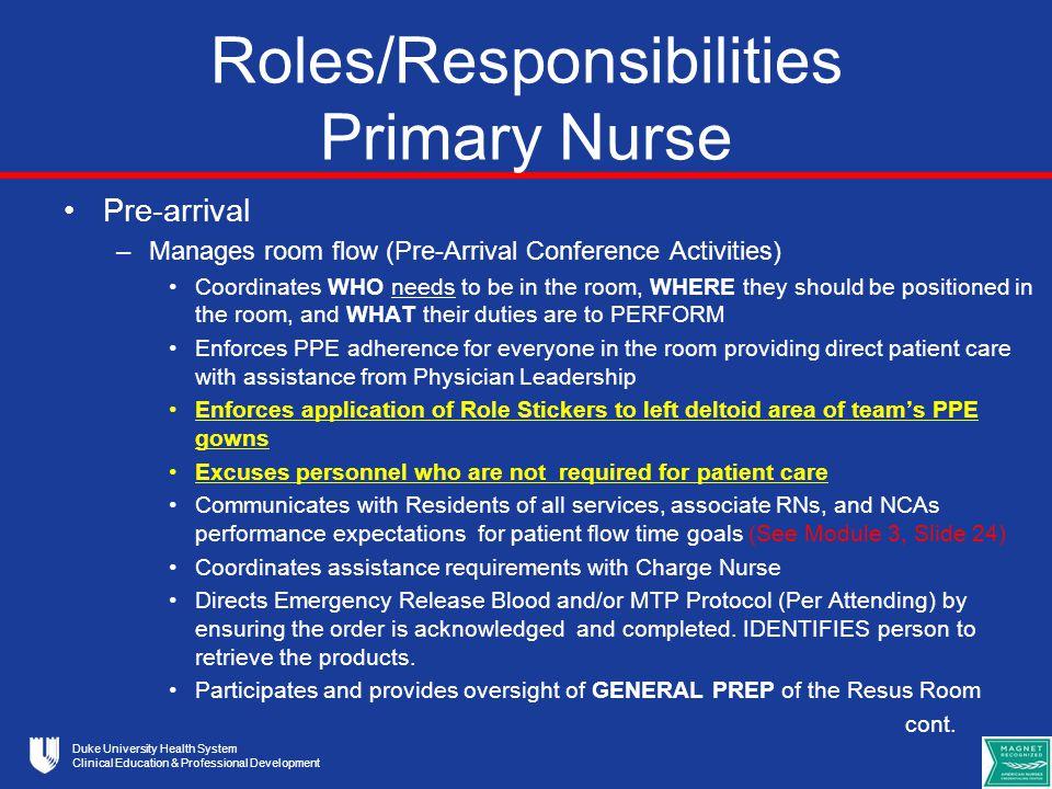 duties per care