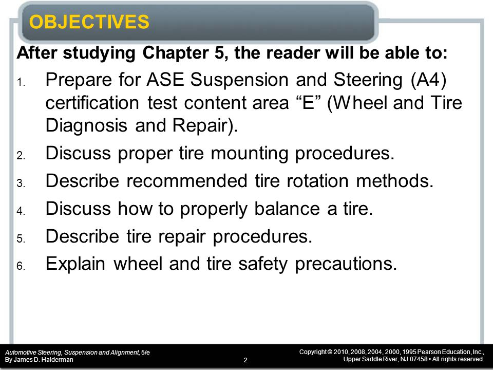 CHAPTER 5 Tire and Wheel Service  ppt download