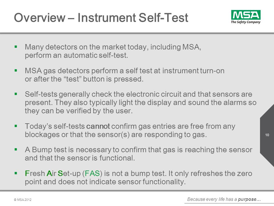 Overview – Instrument Self-Test