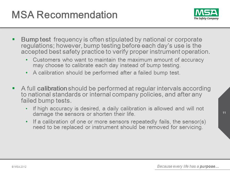 MSA Recommendation