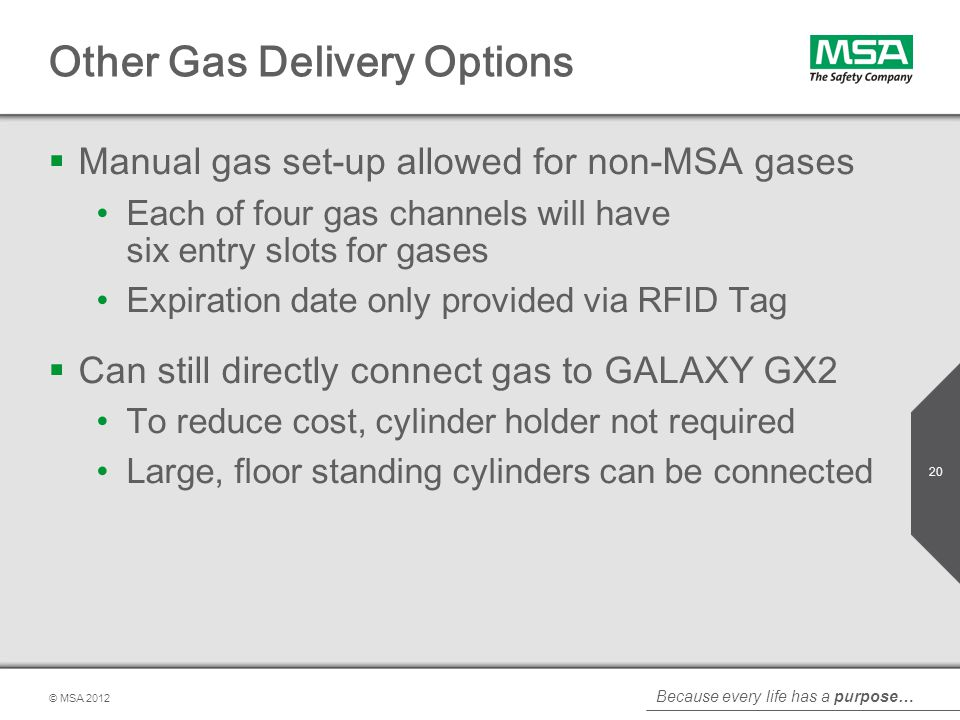 Other Gas Delivery Options