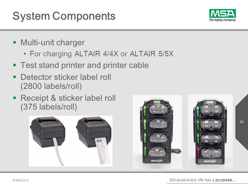 System Components Multi-unit charger