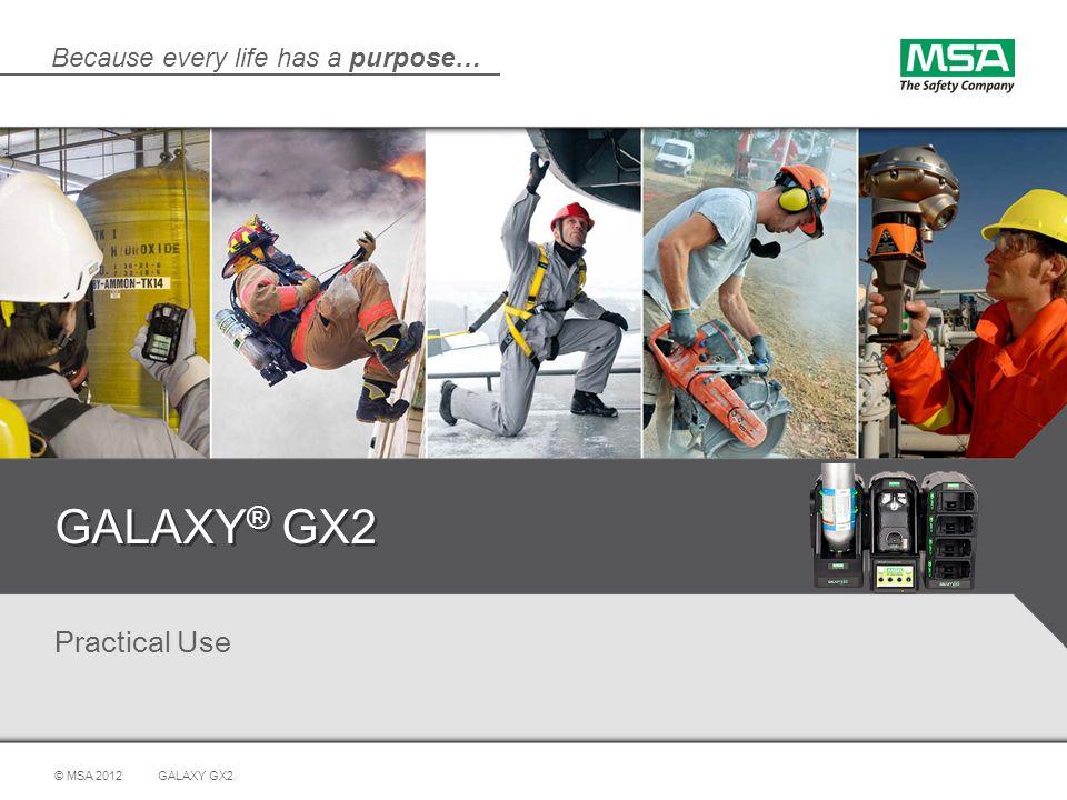GALAXY® GX2 Practical Use