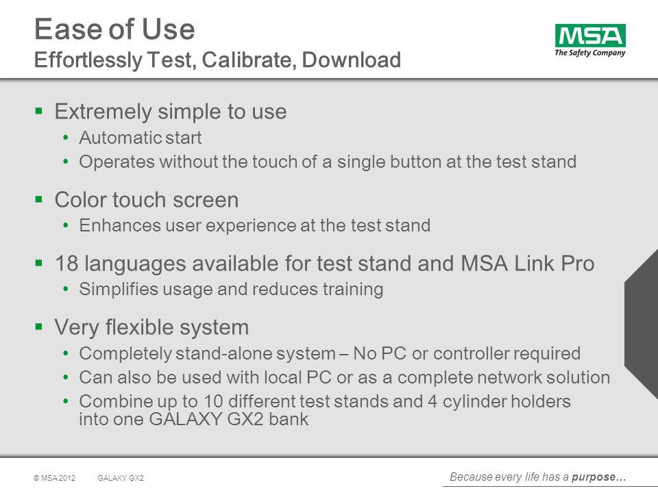 Ease of Use Effortlessly Test, Calibrate, Download