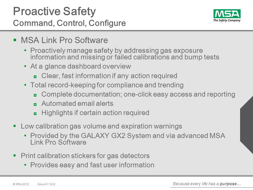 Proactive Safety Command, Control, Configure