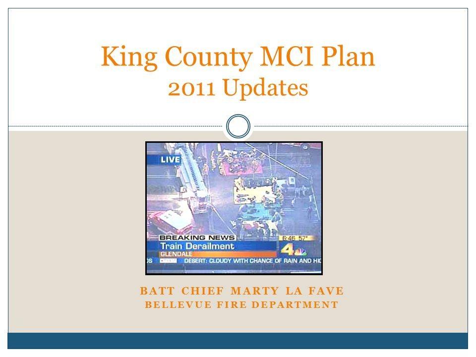 King County MCI Plan 2011 Updates