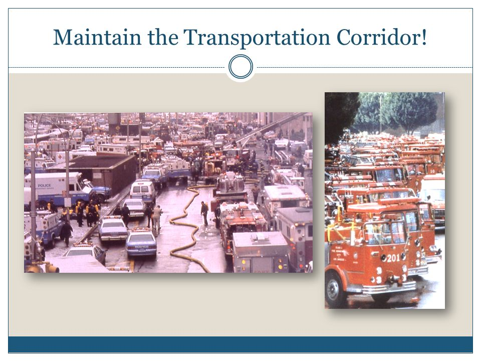 Maintain the Transportation Corridor!