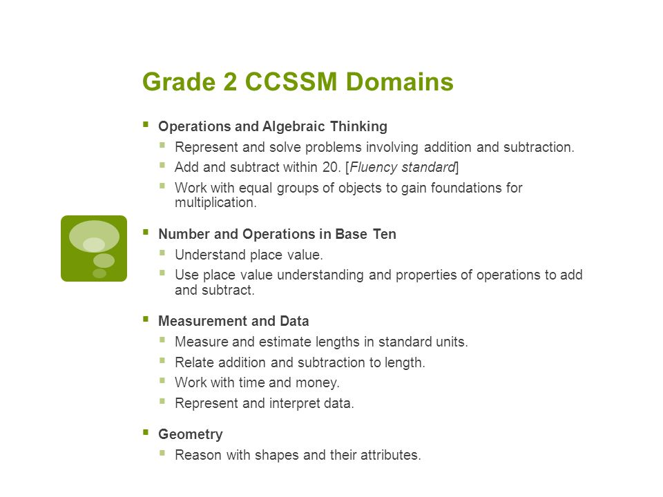 CCSSM in the Second Grade - ppt video online download