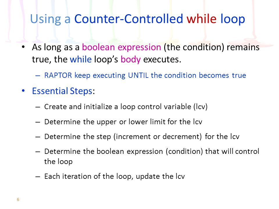 Using a Counter-Controlled while loop
