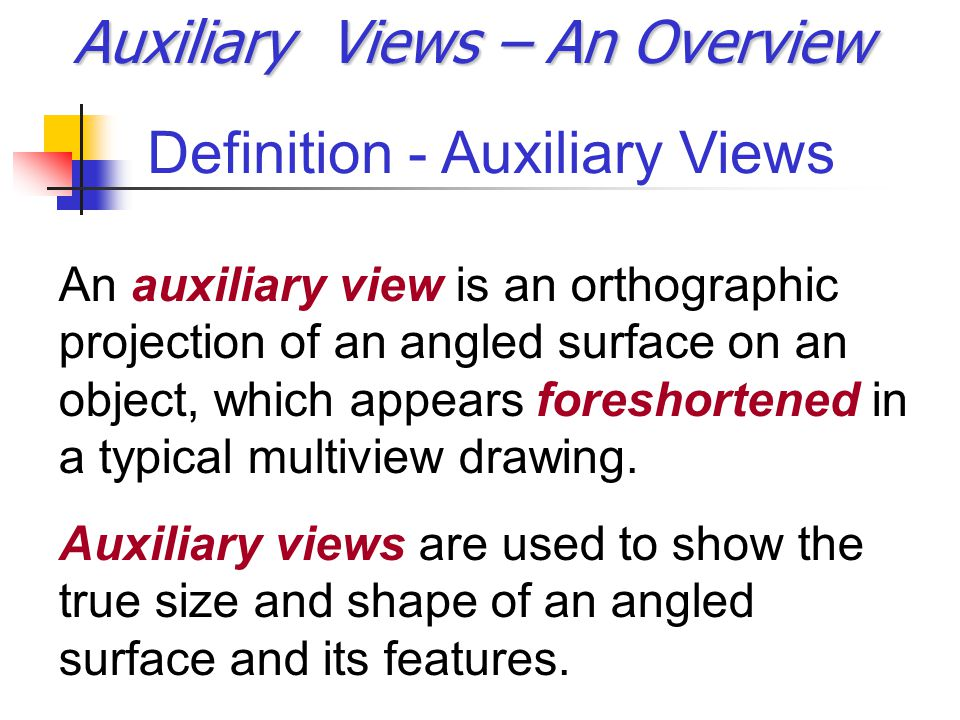 Auxiliary Views – An Overview - ppt video online download