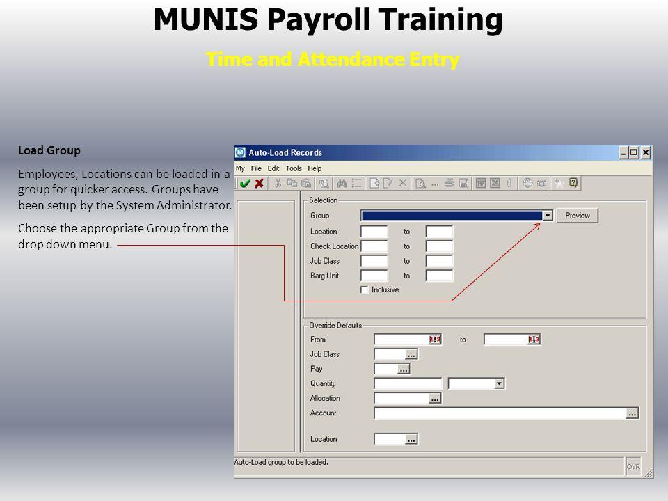 Munis Payroll Training Ppt Video Online Download