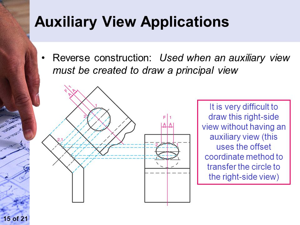 auxiliary view engineering drawing pdf