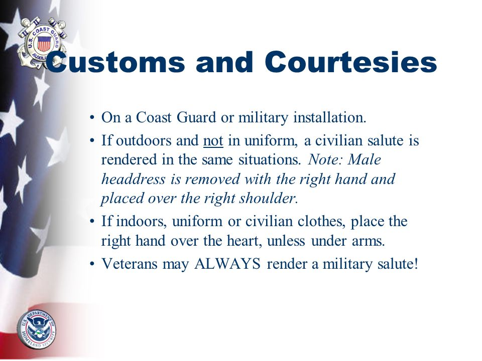 The Importance of Customs and Courtesies in the Army