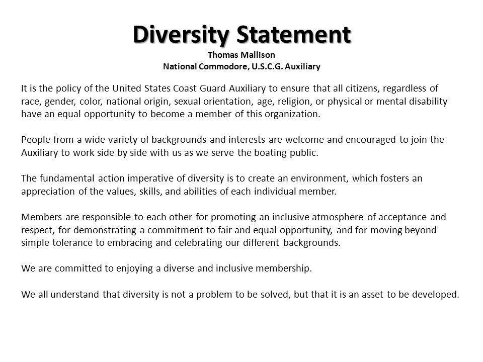 Diversity statement