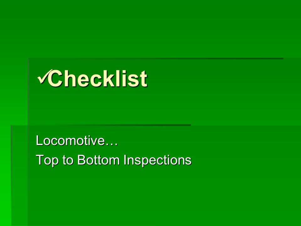 Top 2 bottom inspections consider, that