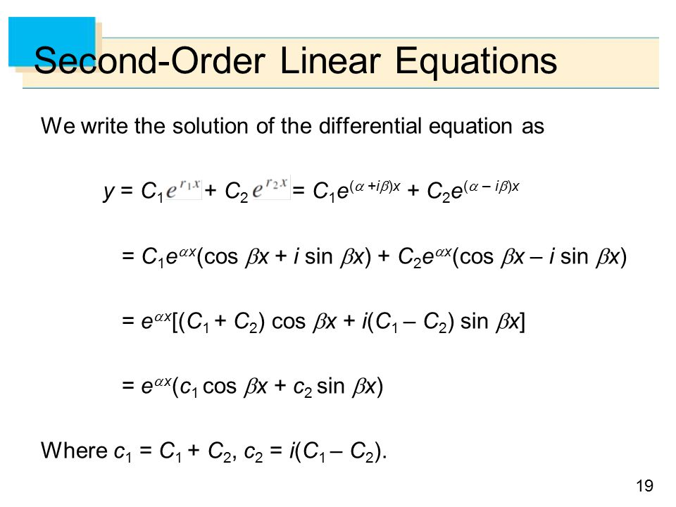 Second-Order Differential - ppt video online download