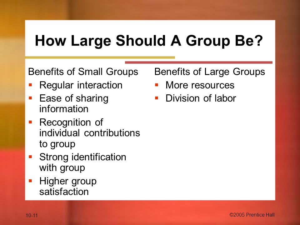 How Large Should A Group Be
