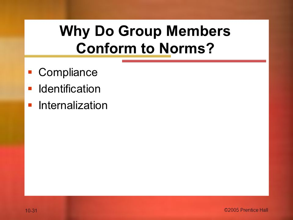 Why Do Group Members Conform to Norms