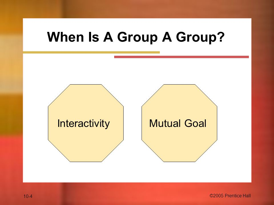 When Is A Group A Group Interactivity Mutual Goal