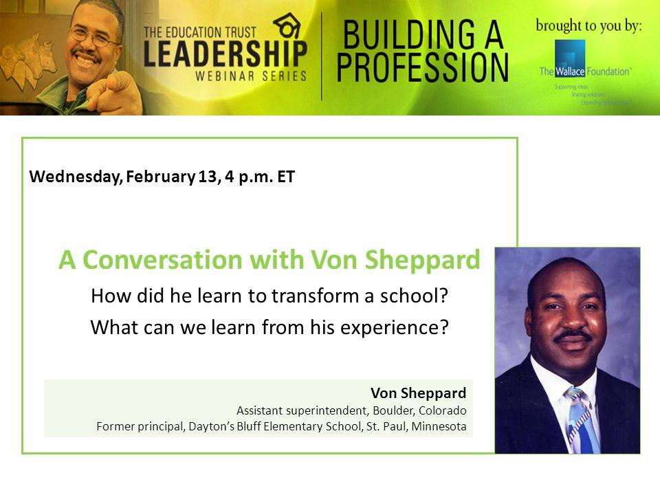 A Conversation with Von Sheppard