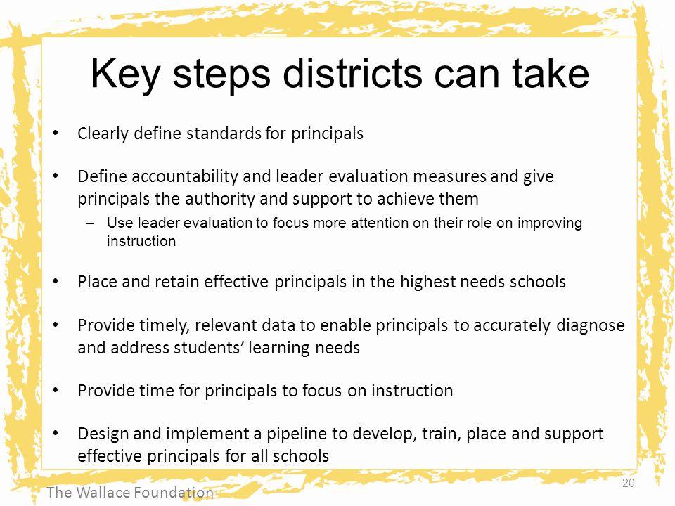 Key steps districts can take