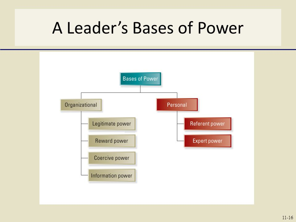 A Leader's Bases of Power