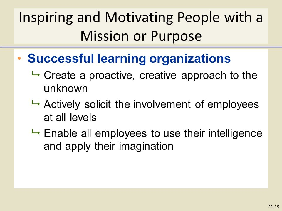 Inspiring and Motivating People with a Mission or Purpose