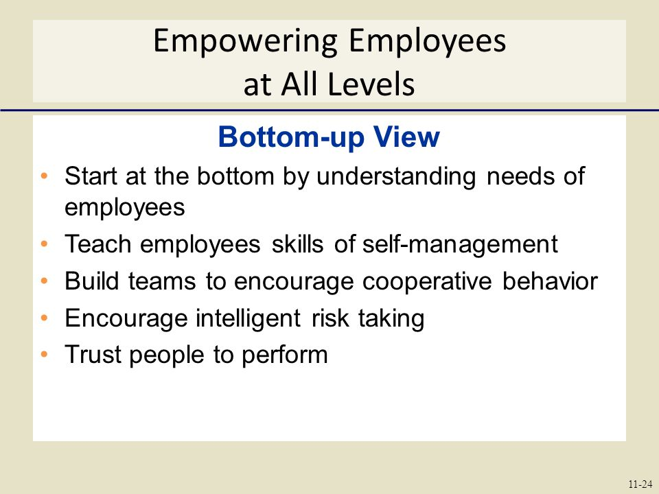 Empowering Employees at All Levels
