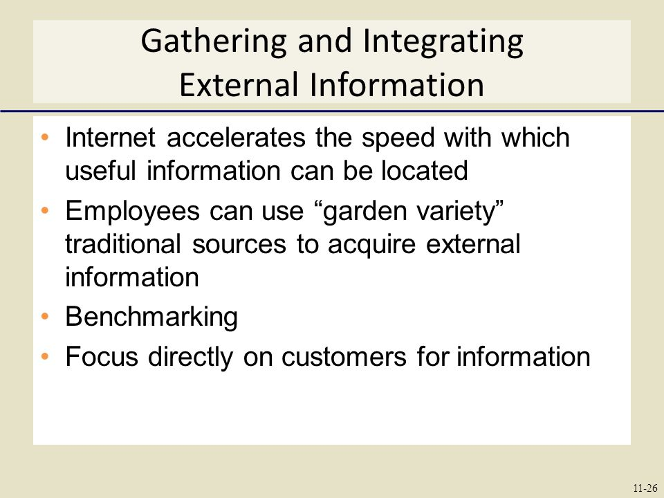 Gathering and Integrating External Information
