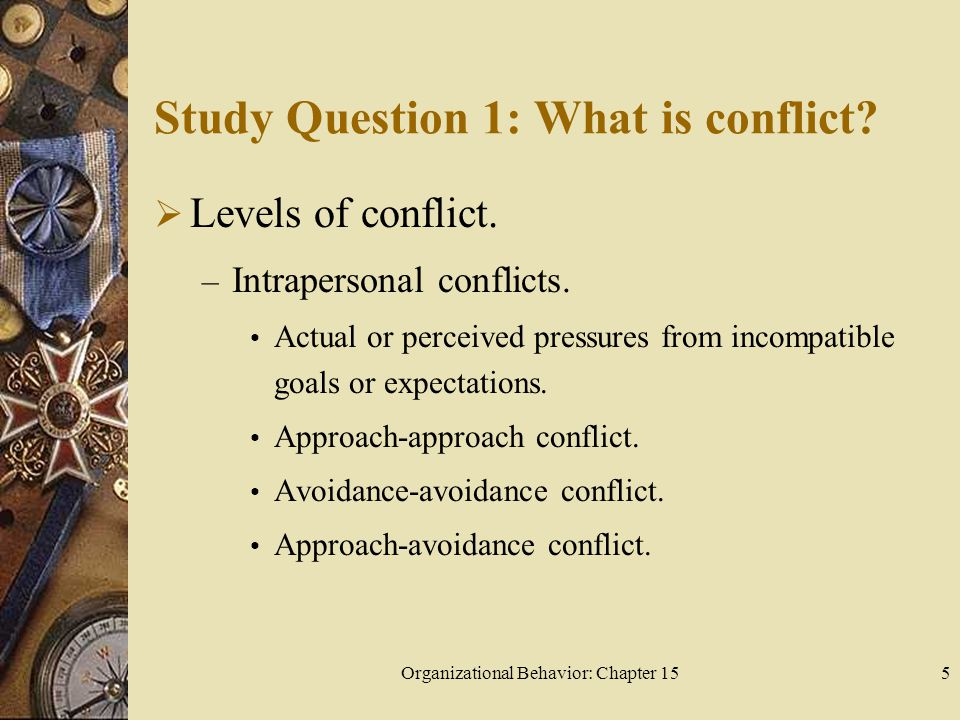 an analysis of the topic of the conflict avoidance Using secondary analysis of the citizen participation study (cps), we show that  conflict avoidance is significantly and inversely related to participation in some.