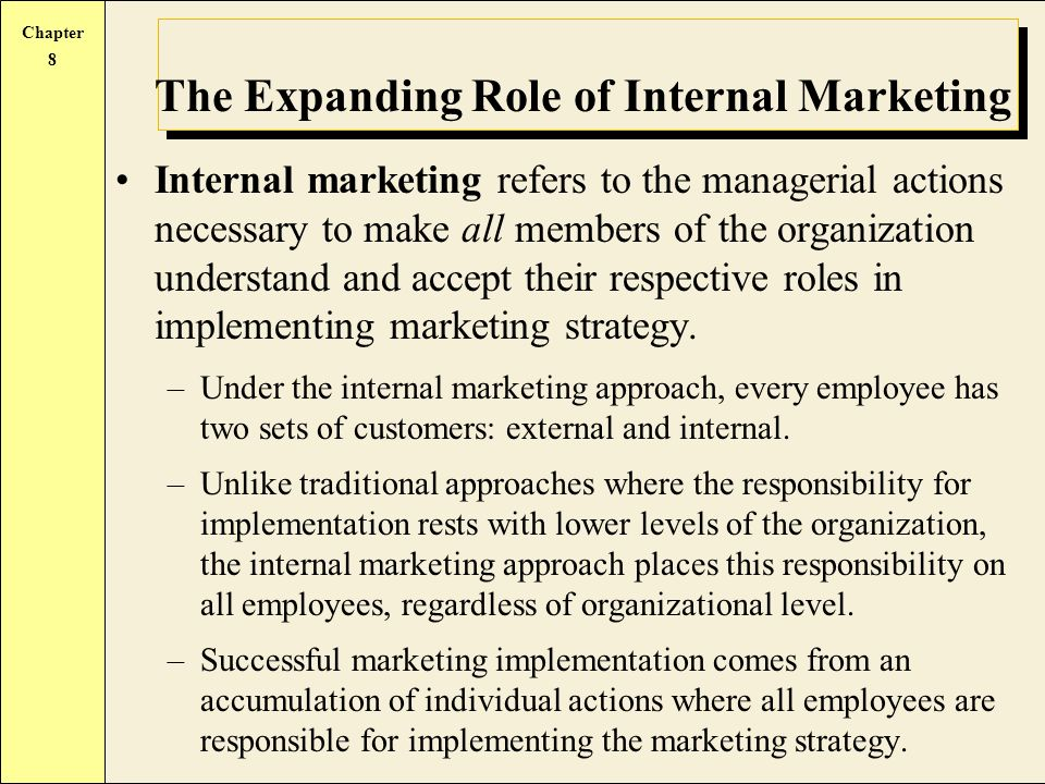the roles and responsibilities for strategy implementation marketing essay The spc secretary and staff support person is siân millard, uh hilo strategic planning coordinator siân's role is to support the spc in its work and ensure that progress is kept on track specifically.