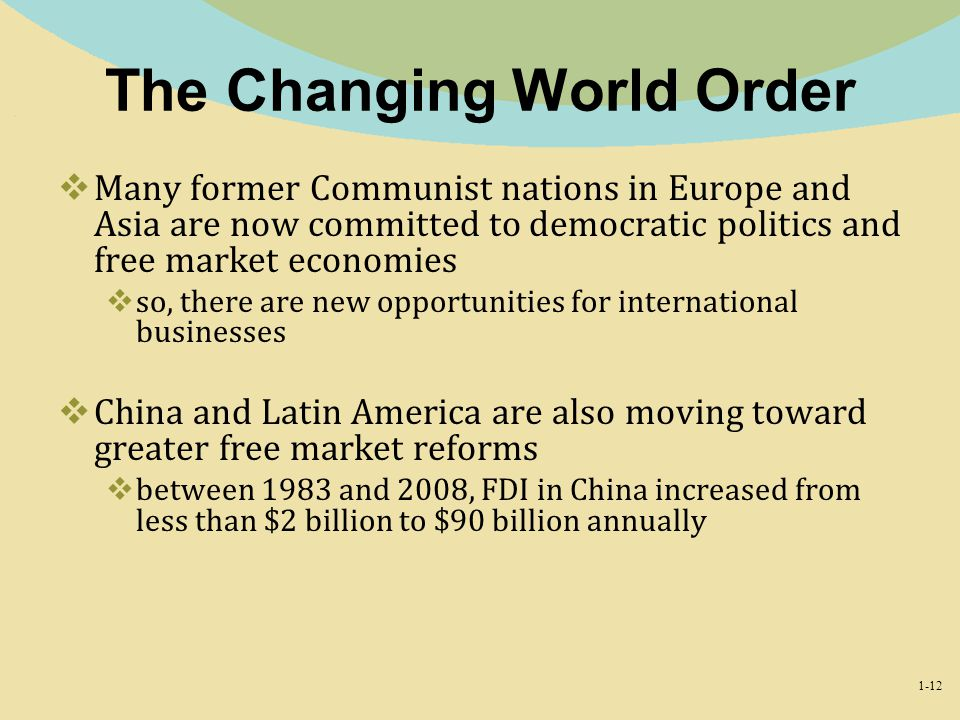 The Changing World Order