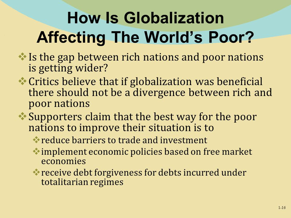 How Is Globalization Affecting The World's Poor