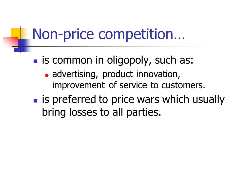 Non-price competition…
