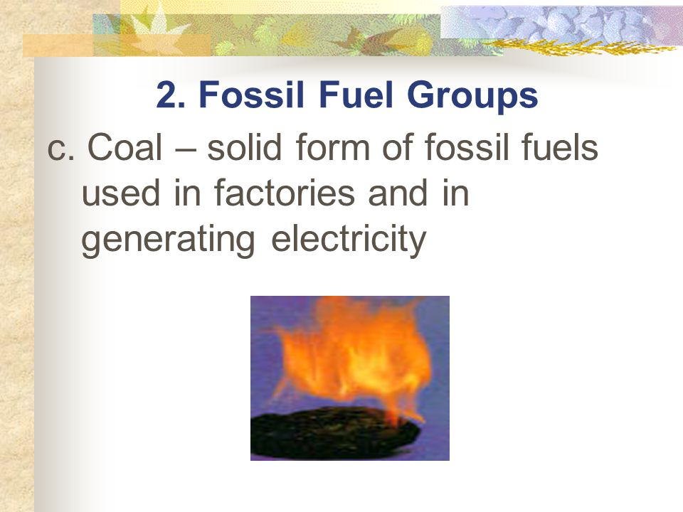 2. Fossil Fuel Groups c.