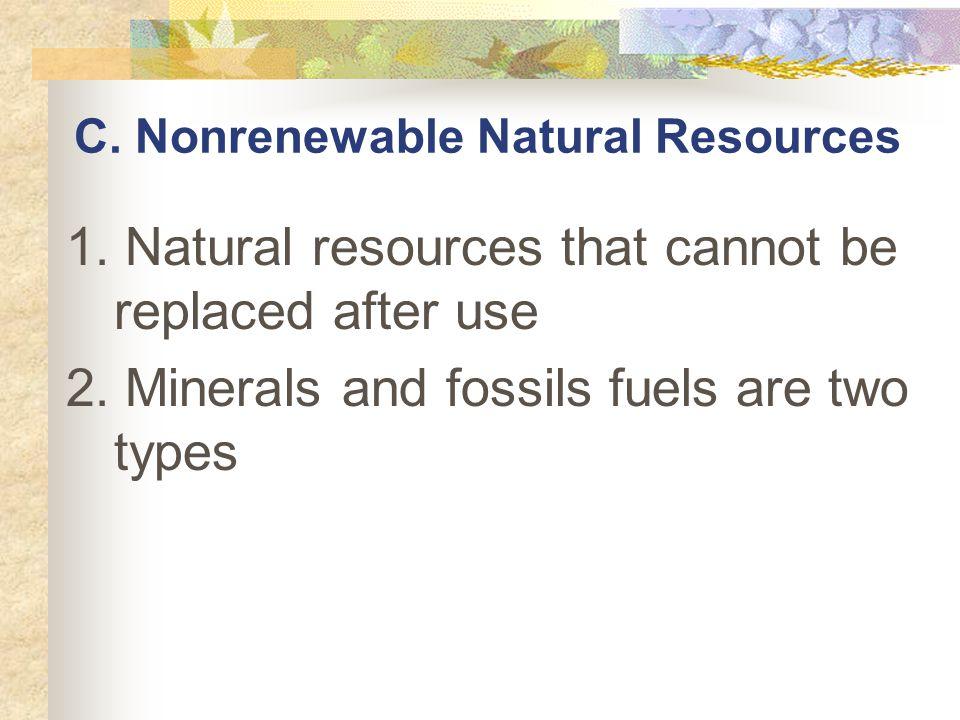 C. Nonrenewable Natural Resources