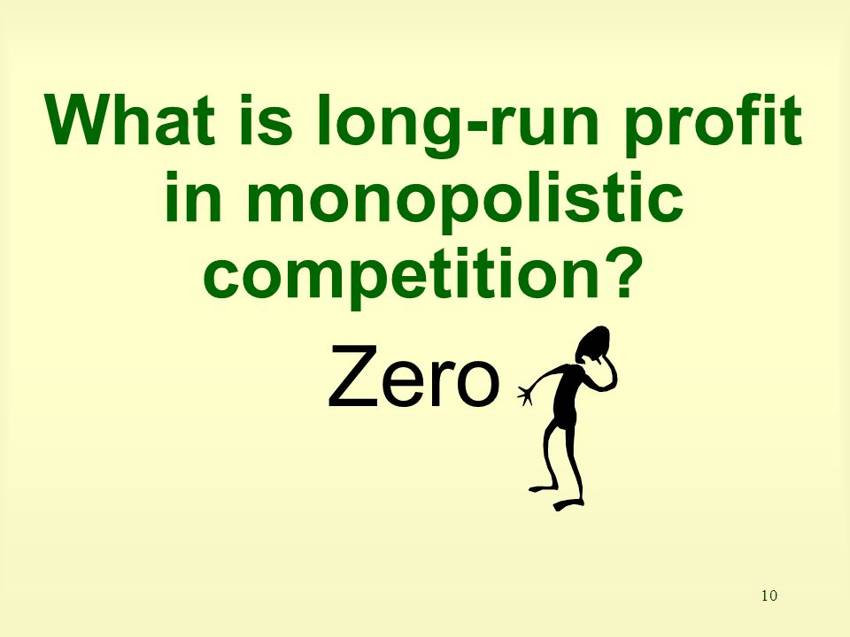What is long-run profit in monopolistic competition