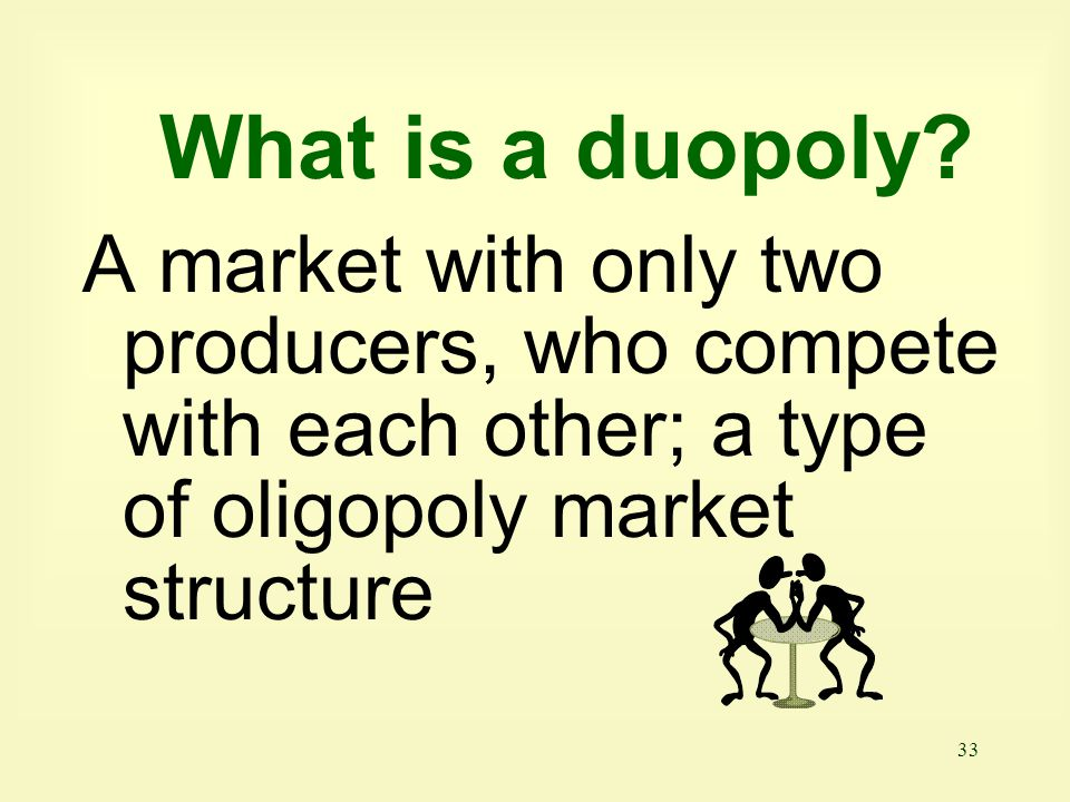What is a duopoly.