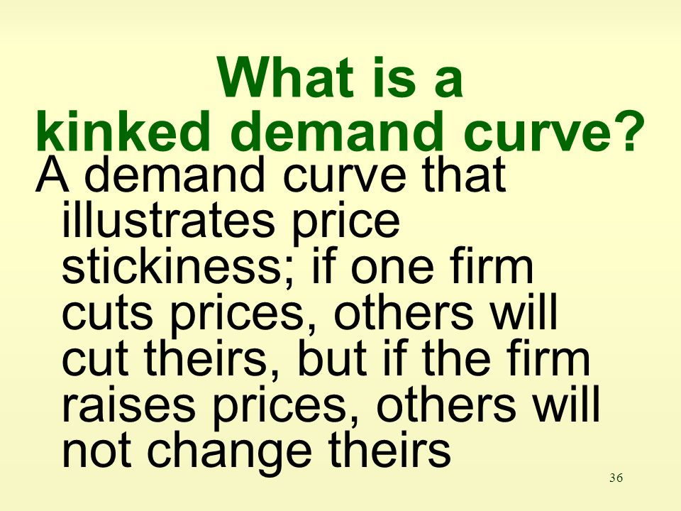 What is a kinked demand curve