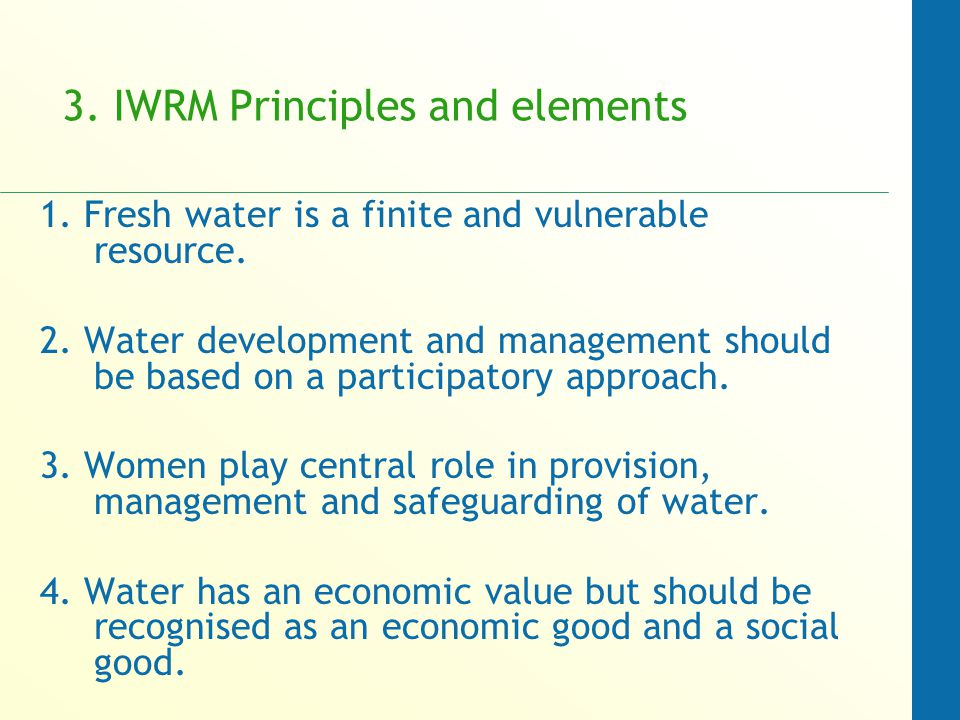 integrated water resources management principles pdf