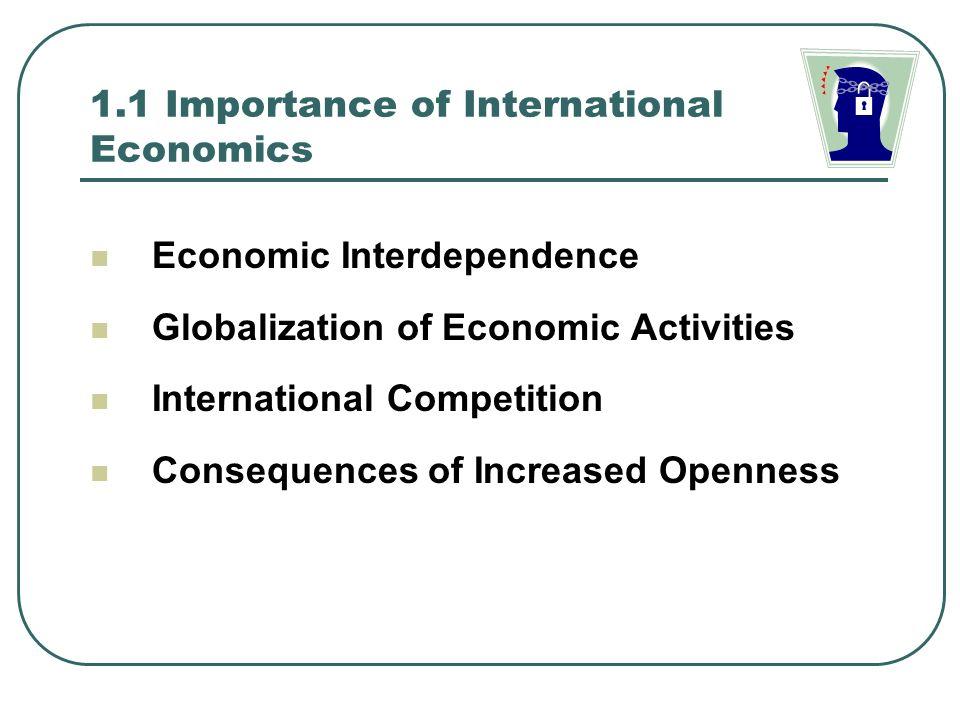 importance of international economics pdf