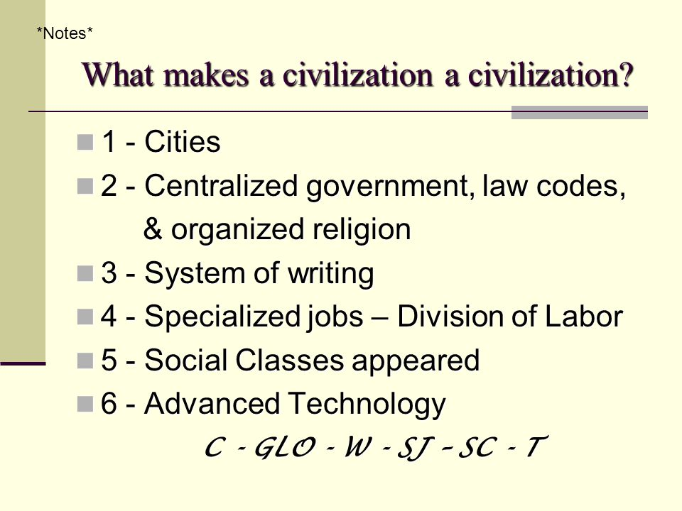 The Emergence of Civilization - ppt download