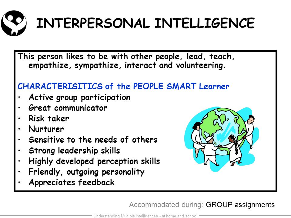 interpersonal intelligence skills Check your communication skills with the interpersonal communication skills test effective communication skills and soft skills are transferable skills, important in.