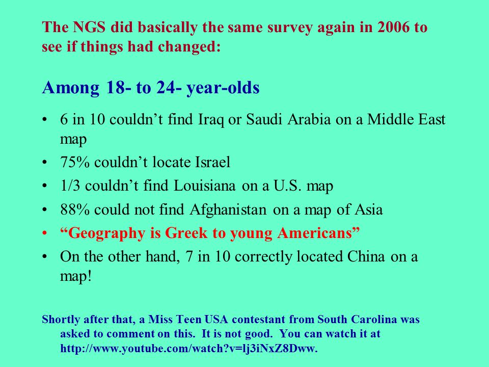 6 In 10 Couldn T Find Iraq Or Saudi Arabia On A Middle East Map