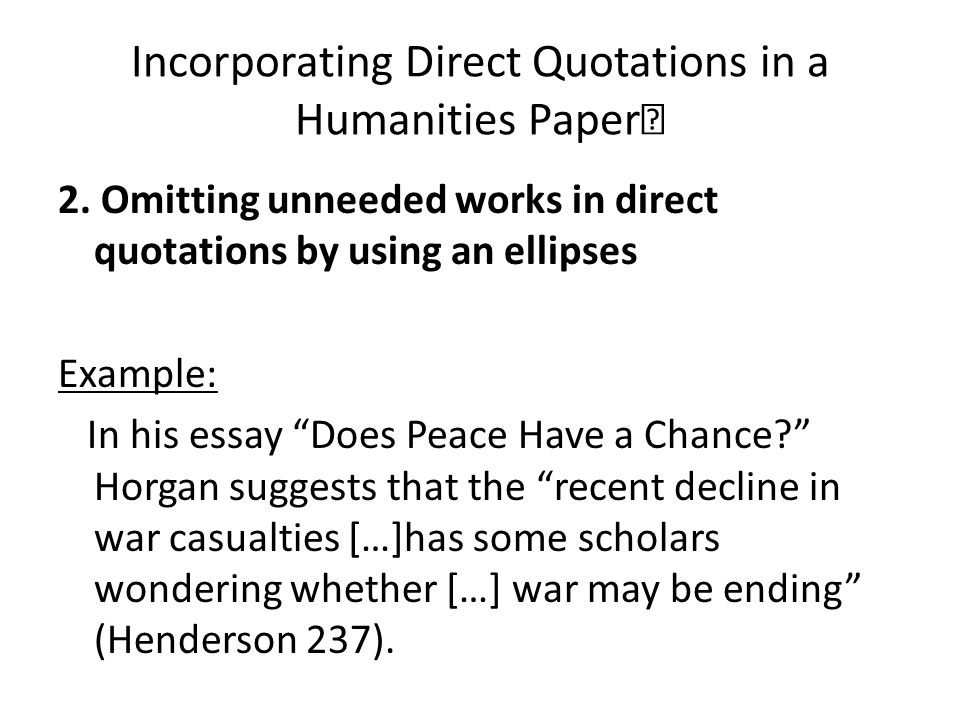 using quotations in an academic essay