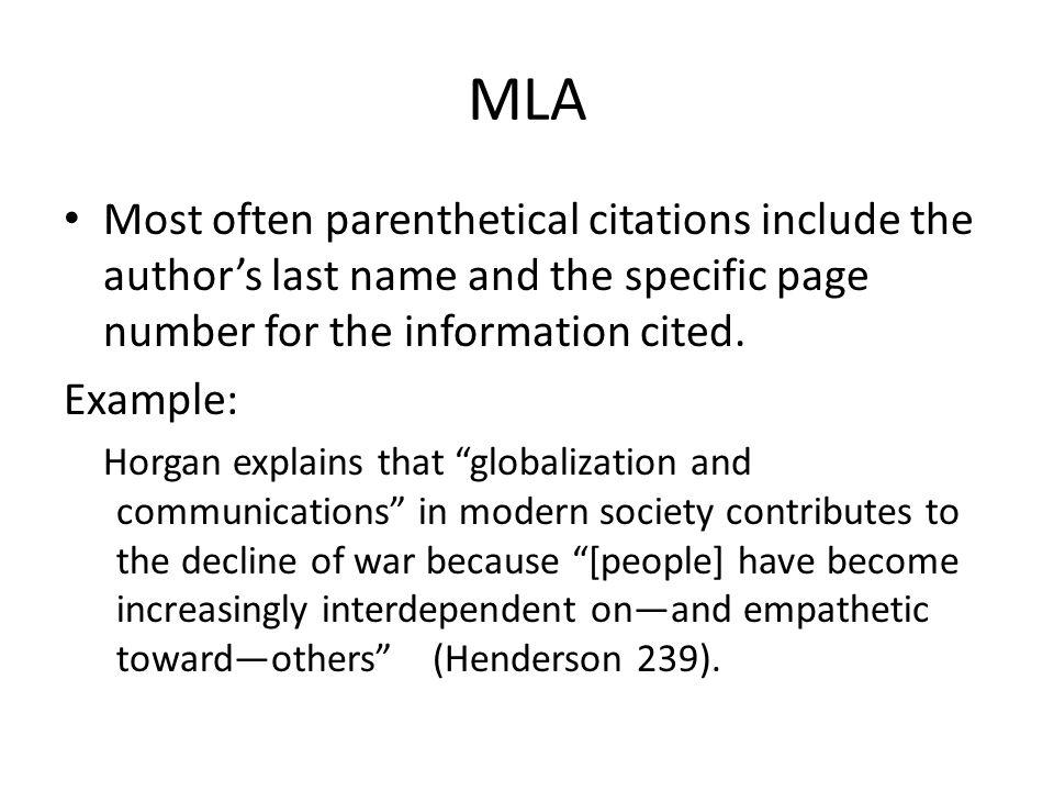 Mla Citation For Essay