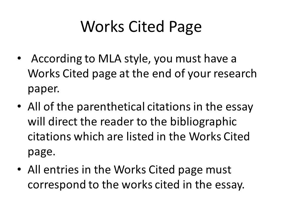 you do a work cited page for a research paper When you're writing a research paper, effectively using information from other  sources to prove your point can solidify your stance to an.