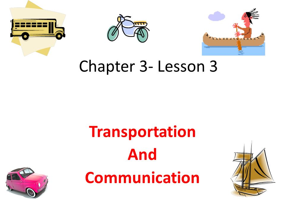 geography transport and communications