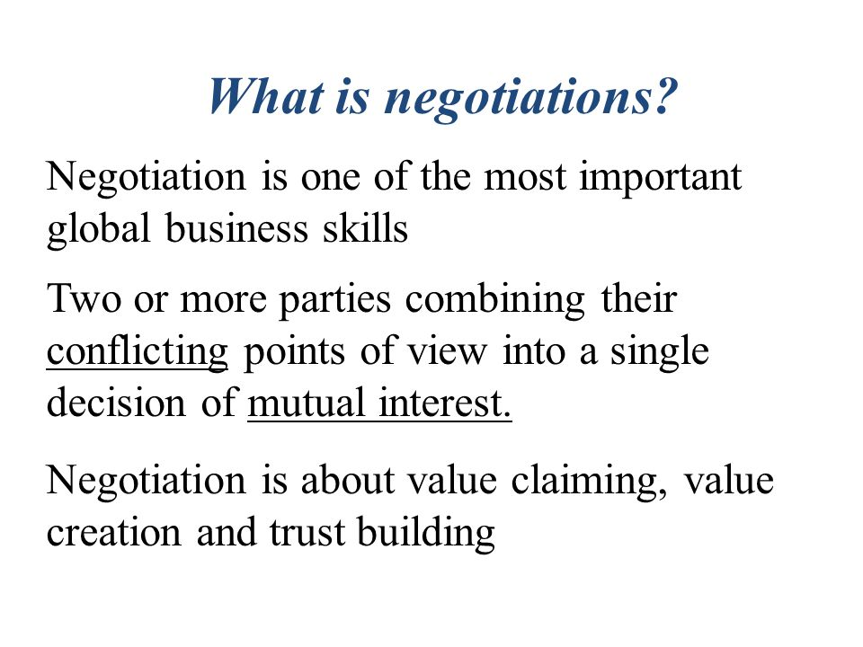 Importance of Negotiation in Corporates