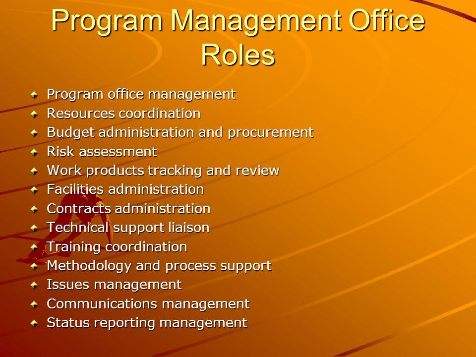 project management office roles